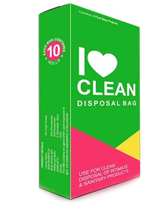 I Love Clean Sanitary Napkin Disposal Bags Pack Of 10 At Menstrupedia